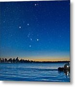 Orion Over Vancouver, Canada Metal Print by David Nunuk