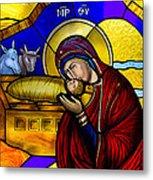 Orthodox Christmas Card Metal Print