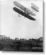 Orville Wright In Wright Flyer, 1908 Metal Print