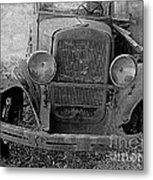 Out Of Service In Black And White Metal Print