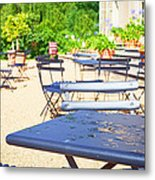 Outdoor Cafe Metal Print