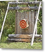 Outdoor Wooden Bulls-eye Metal Print by Jaak Nilson