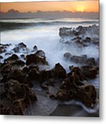 Overwhelmed By The Sea Metal Print