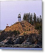 Owls Head Lighthouse Metal Print by Skip Willits