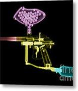 Paintball Gun Metal Print