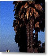 Palm Trees At Surfers Point Metal Print