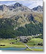 Panoramic View Over Mountain Metal Print