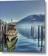 Passenger Ship On An Alpine Lake Metal Print