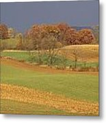 Pastoral View Of Rolling Fields Metal Print