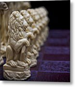 Pawns In A Row Metal Print