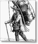 Peddler, 18th Century Metal Print