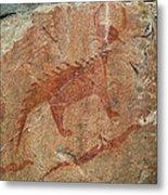 Petroglyph At Agawa Rock Metal Print