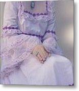 Pink Wedding Dress Metal Print