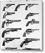 Pistols And Revolvers Metal Print