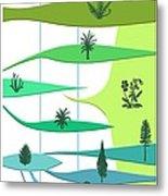 Plant Evolution, Diagram Metal Print by Gary Hincks