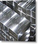 Platinum Bars Metal Print