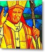 Pope John Paul 11 Metal Print
