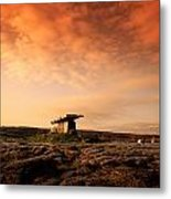 Poulnabrone Dolmen, The Burren, Co Metal Print