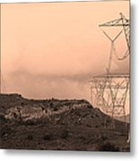Power Lines Metal Print by Viktor Savchenko