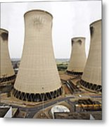 Power Station Cooling Towers Metal Print
