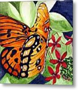 Precocious Butterfly Metal Print