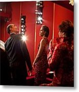 President And Michelle Obama Attend Metal Print by Everett