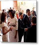 President Obama And French President Metal Print
