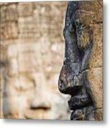 Profile Of Avalokiteshvara Statue Metal Print