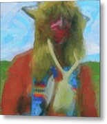 Proud Crow Warrior II Metal Print