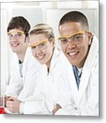 Pupils In A Science Lesson Metal Print