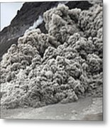 Pyroclastic Flow Descending The Flank Metal Print