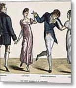 Quadrille, 1820 Metal Print