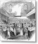 Quaker Meeting, 1843 Metal Print