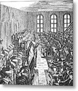 Quaker Meeting Metal Print by Granger