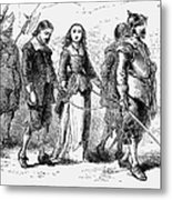 Quakers: Mary Dyer, 1659 Metal Print