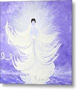Quan Yin Metal Print by Judy M Watts-Rohanna
