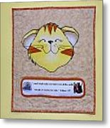 Quilted Cat  Metal Print