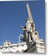 Quirinal Obelisk In Front Of Palazzo Del Quirinale. Rome Metal Print