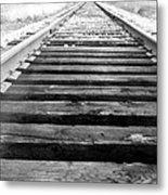 Railroad Tracks Metal Print by Michael Ringwalt