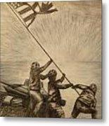 Raising The Flag Of Victory Metal Print