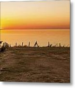 Reculver Sunset Metal Print