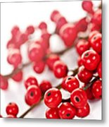 Red Christmas Berries Metal Print