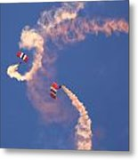 Red Devils Free Fall Parachute Team Metal Print
