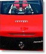 Red Ferrari Metal Print