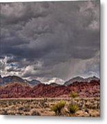 Red Rock Storm Metal Print