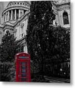 Red Telephone Box Metal Print