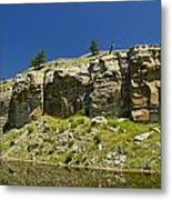 Reflecting Cliffs Metal Print
