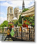 Restaurant On Seine Metal Print