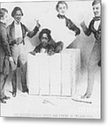 Resurrection Of Henry Box Brown Metal Print by Photo Researchers
