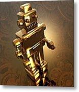 Retro Robot, Artwork Metal Print